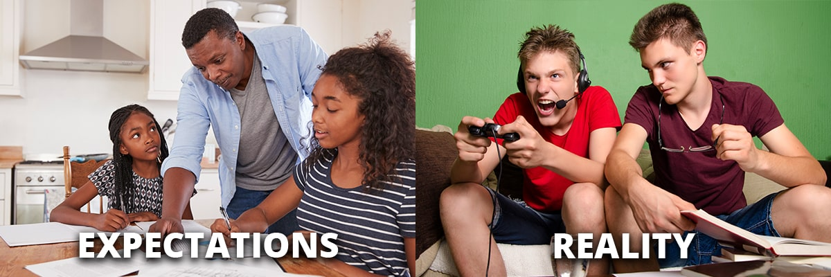 Doing Their Homework Expectations vs. Reality