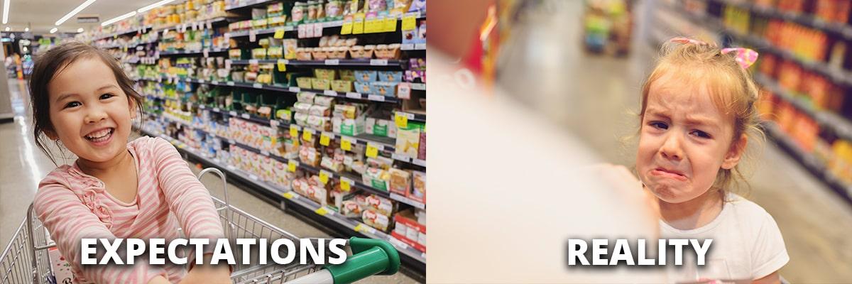 Shopping Expectations vs. Reality
