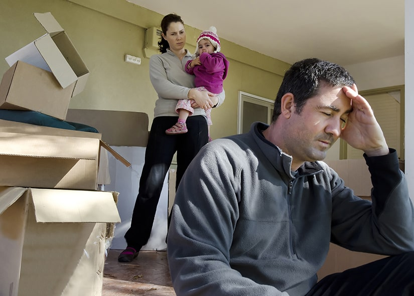 One of two co-parents moving away when divorced