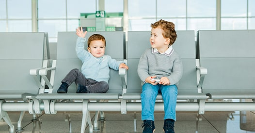 Children in airport.