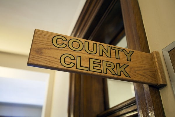 file paperwork with your local clerk of court